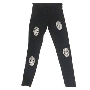 Flowers By Zoe Girls Lg. Skull Leggings